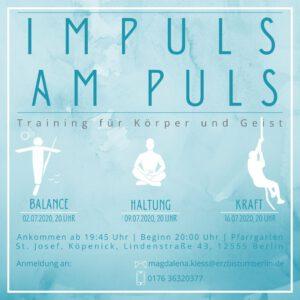 Neue Veranstaltungsreihe: Impuls am Puls – ein Training für Körper und Geist