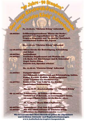 90 Jahre – 90 Stunden   Das lange Kirchweih-Festwochenende von Christus König
