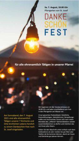Ehrenamts-Dankeschön-Fest am 07.08.