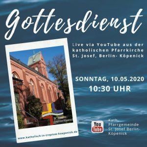 Sonntag, 10. Mai 2020: Gottesdienst im Livestream um 10:30 Uhr
