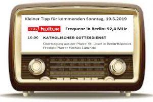rbb-Radiomesse am 19.5.2019 aus St. Josef
