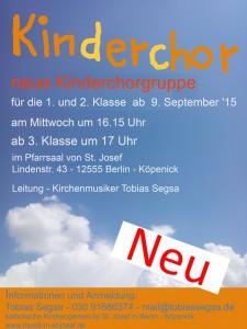 Neue Kinderchorgruppe nach den Sommerferien