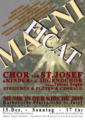 MAGNIFICAT – adventliches Chorkonzert der Chöre von St. Josef am 15.12.2019 um 17 Uhr