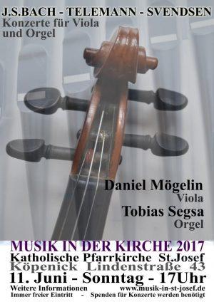 Konzert für Viola und Orgel – Sonntag 11.06.2017 um 17 Uhr