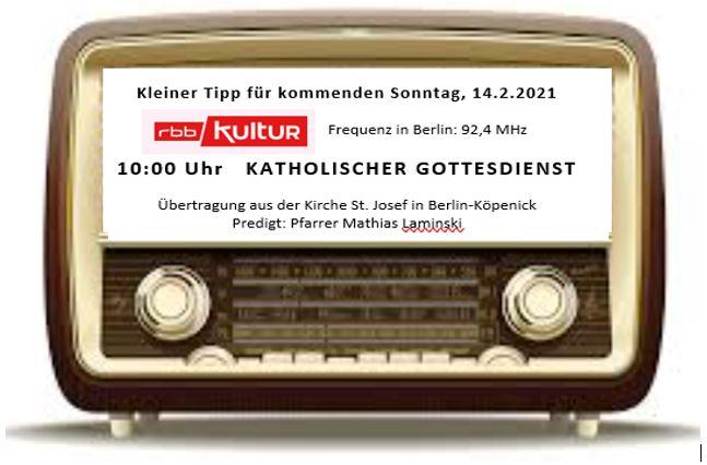 rbb-Rundfunkmesse am Valentinstag in St.Josef