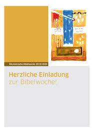 Ökumen. Bibelwoche 19.01. – 23.01.20