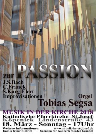 Orgelkonzert zur Fastenzeit, Sonntag, 18.03.2018 um 17 Uhr