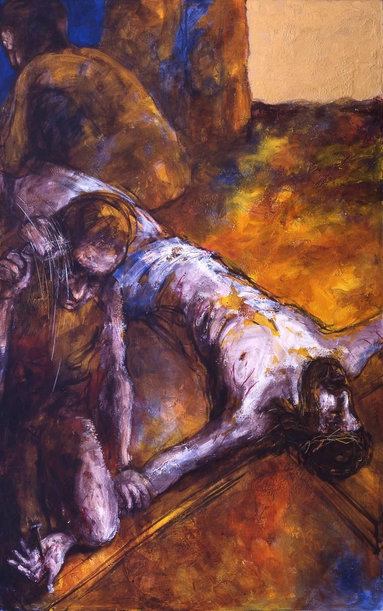Jesus wird  ans Kreuz genagelt | 11. Station auf dem Online-Kreuzweg