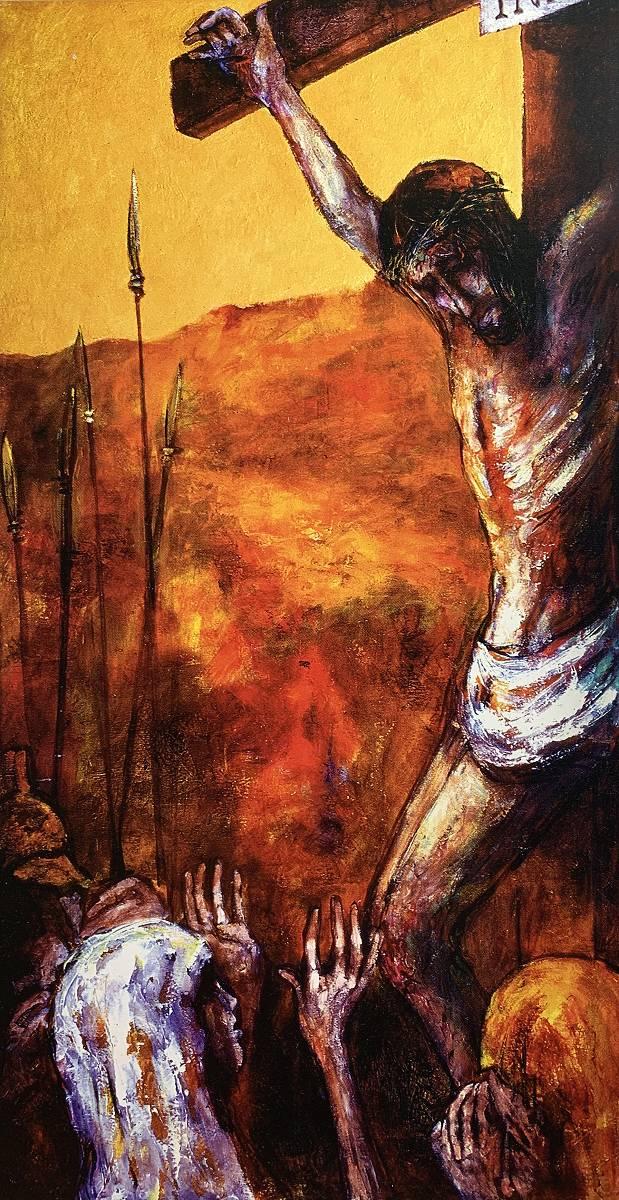 Jesus stirbt am Kreuz | 12. Station auf dem Online-Kreuzweg