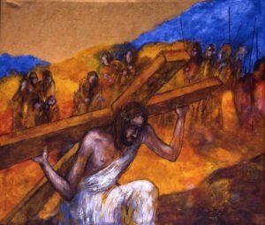 Jesus nimmt das Kreuz auf seine Schultern | 2. Station auf dem Online-Kreuzweg