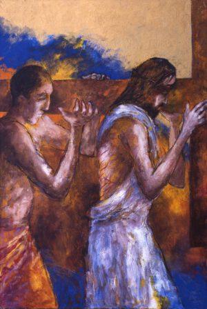 Simon von Zyrene hilft Jesus das Kreuz tragen | 5. Station auf dem Online-Kreuzweg