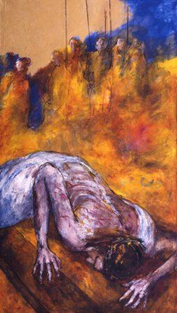 Jesus fällt zum zweiten Mal  unter dem Kreuz | 7. Station auf dem Online-Kreuzweg