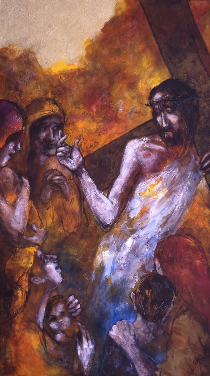 Jesus begegnet den weinenden Frauen | 8. Station auf dem Online-Kreuzweg