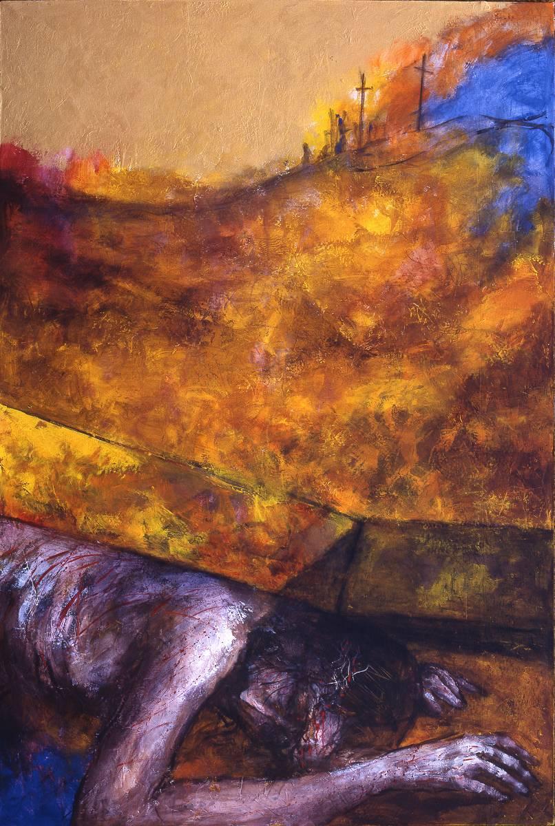 Jesus fällt zum dritten Mal unter dem Kreuz | 9. Station auf dem Online-Kreuzweg