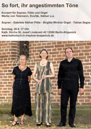 Konzert in St. Josef  20.6. 17 Uhr – auch im Garten zu hören – auch im Livestream mitzuerleben